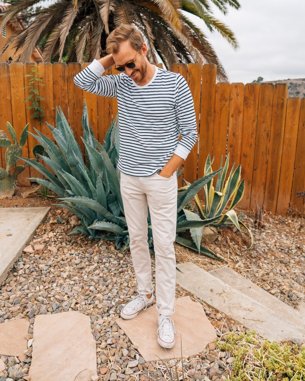 White Stripes and White Pants - Stay Classic