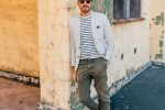Striped T-Shirt and Linen Blazer - Stay Classic