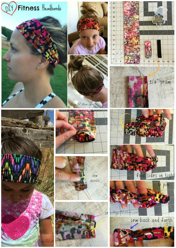 Super easy DIY fitness headbands that actually stay on!