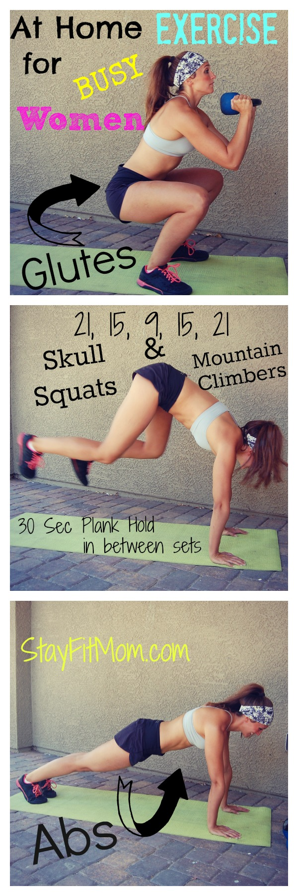 I've gotta try this Glutes and Abs Workout when I get home! I love these at home workouts from StayFitMom.com