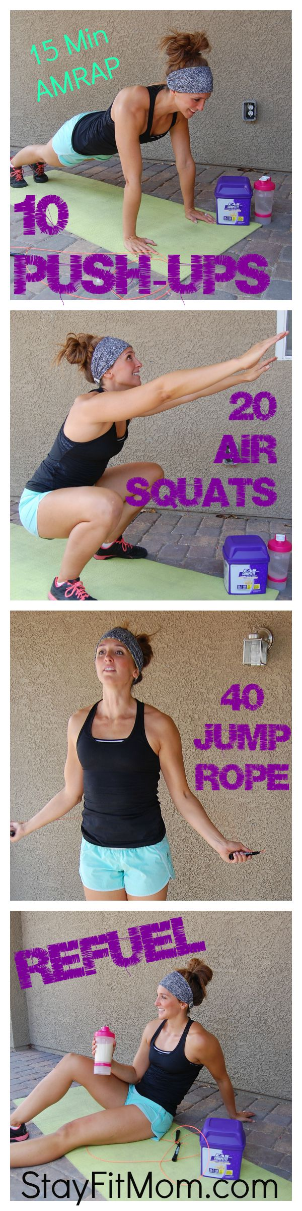 Love these at home workouts from Stayfitmom.com!