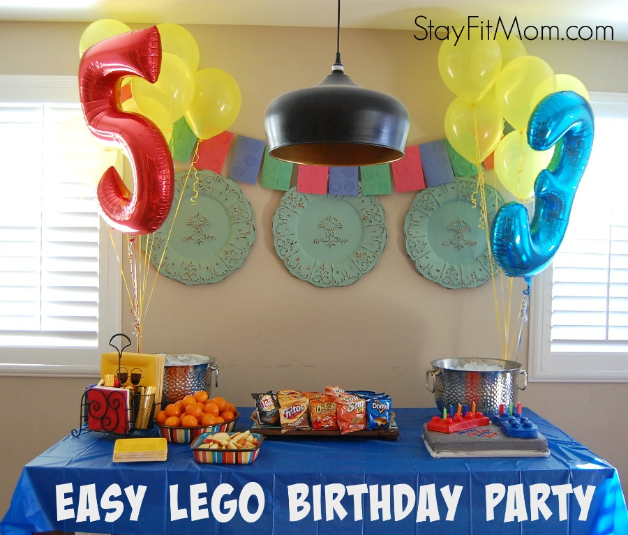 Easy Lego Decorations Simple EASY Birthday Party Love All These Ideas From StayFitMom