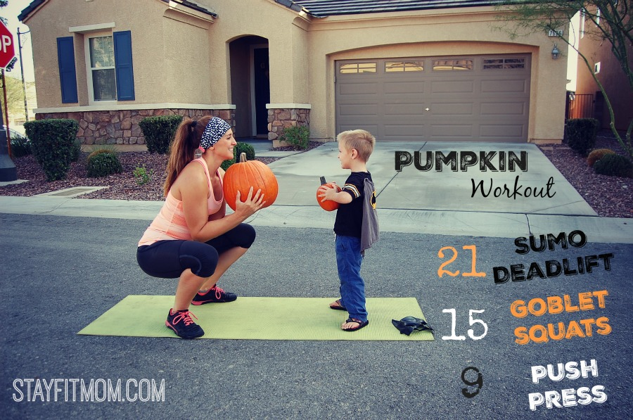 The perfect way to add weight to your workout this fall season! Love this pumpkin workout from StayFitMom.com!