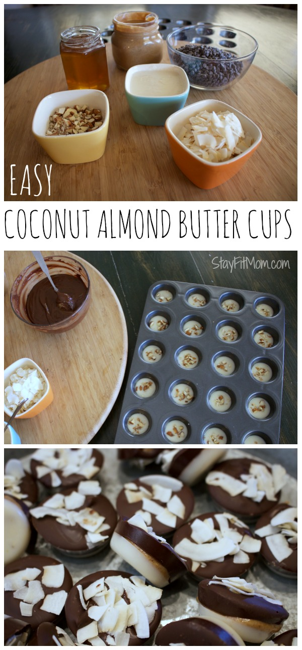 Easy Coconut Almond Butter Cups
