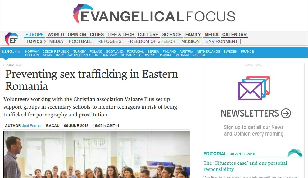 Preventing sex trafficking in Eastern Romania by Valoare Plus in StayFree Project