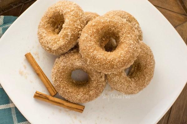 Gluten Free Vegan CInnamon sugar donuts