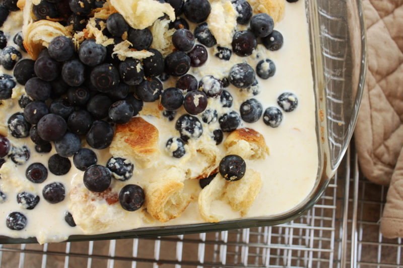 Favorite Flavors of Ireland cookbook & Irish croissant pudding recipe with custard! Pin now- read later.