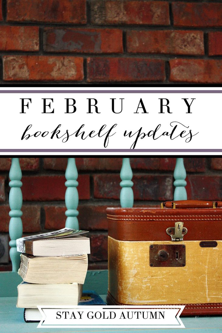 February bookshelf updates// what did I read this month? Reviews on: A Joy-Filled Life, Weather Permitting and Other Stories, Blackmoore, Papertowns, and A Field Guide to the F Word.