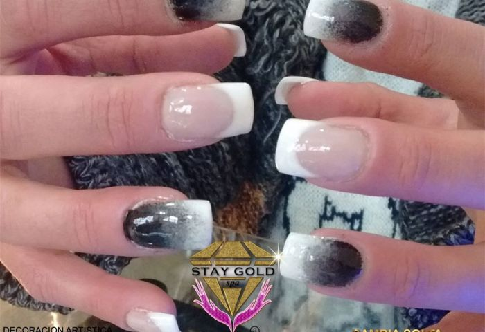 Precios Uñas Francesitas Dithered Black Nails Santa Rita