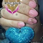 gelificadas rosa y oro