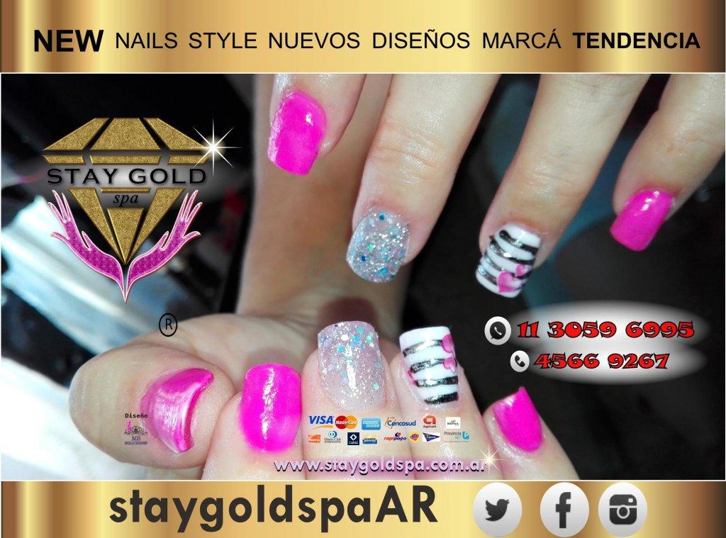 pink luxory nails uñas esculpidas en devoto