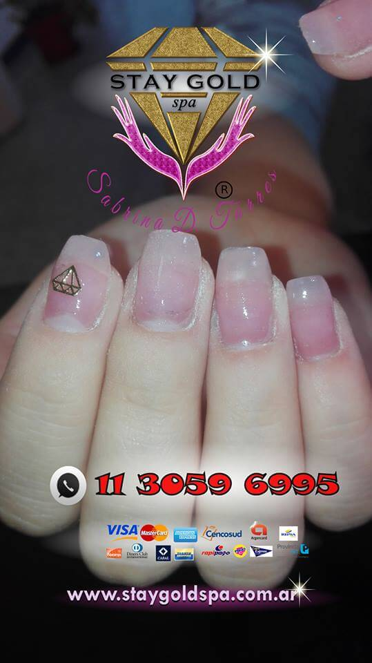 uñas gelificadas con tips