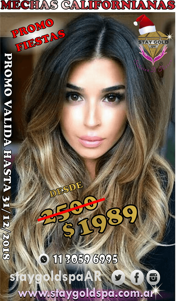 precio mechas californianas dic 2018 stay gold spa