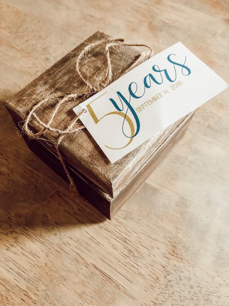 5 Year Anniversary Gift Wood