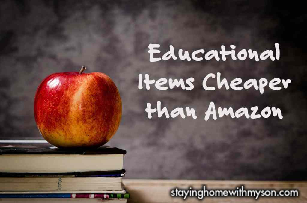 Educational Items Cheaper than Amazon