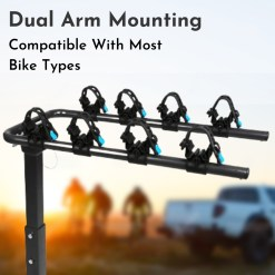 Tow Bar Bike Rack 4 Bicycle Carrier Mount Product Photo - Dual Arm Mounting