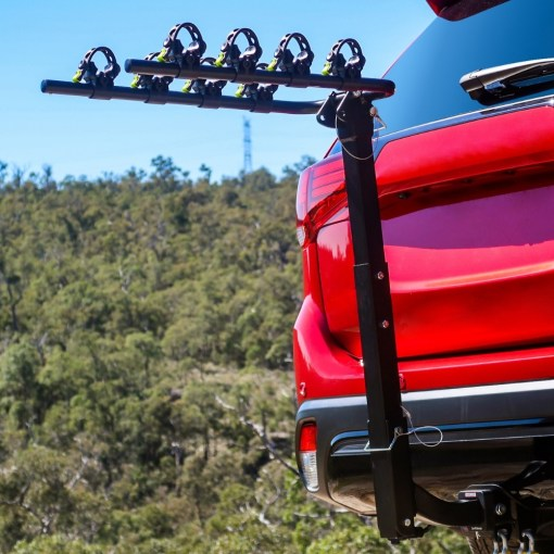 Tow Bar Bike Rack 4 Bicycle Carrier Mount Rack Low View