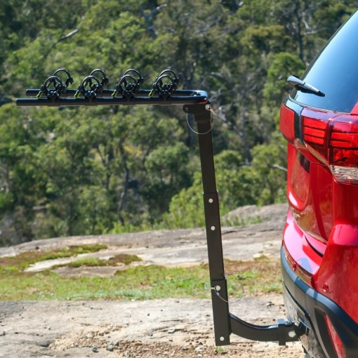 Tow Bar Bike Rack 4 Bicycle Carrier Mount Rack Side View
