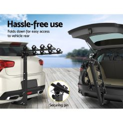 Tow Bar Bike Rack 4 Bicycle Carrier Mount Easy Rear Access