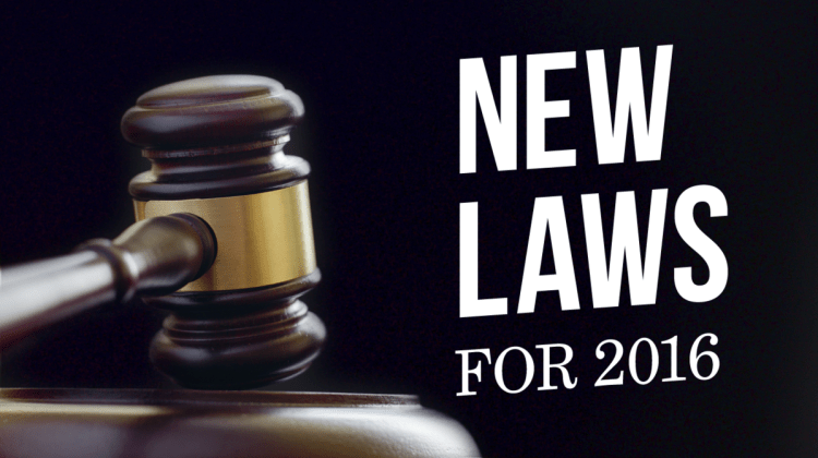 New Laws 2016