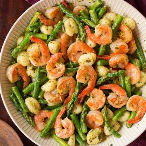 Low Carb Asparagus and Shrimp Salad