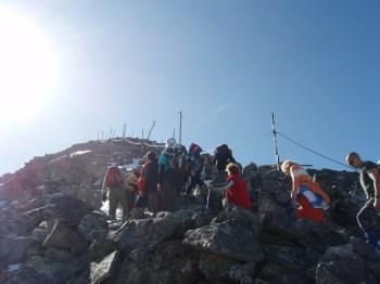 Osiguranje pri samom vrhu Musale