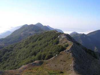 Na prevoju između dva vrha Rumije