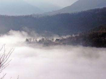 konjička sela u magli
