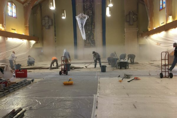 Demolition of previous altar