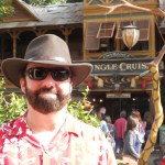 Lance Robert in my new Indiana Jones hat outside the Jungle Cruise ride at Disneyland