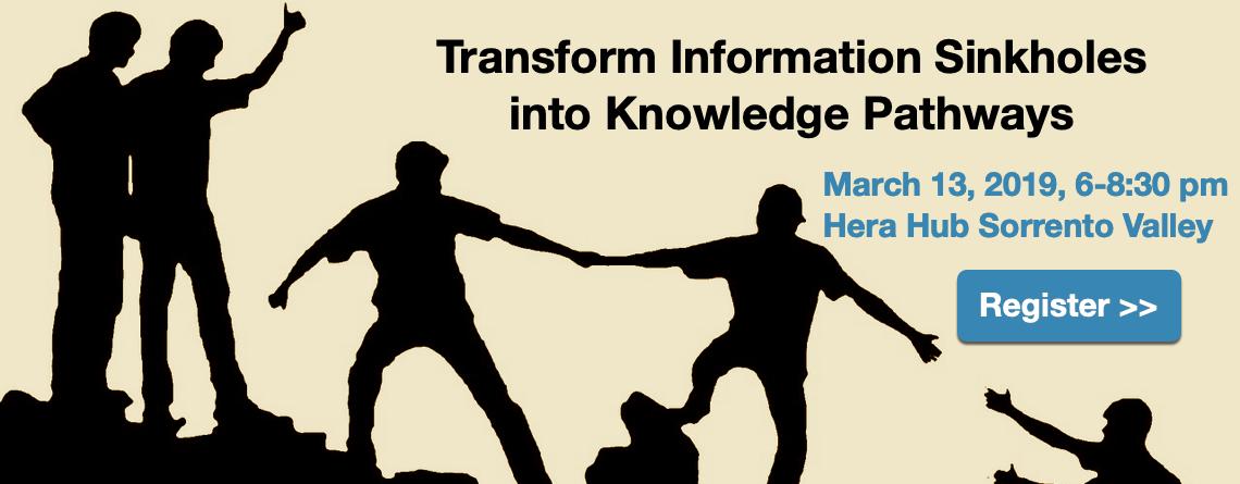 Transform Information Sinkholes into Knowledge Pathways