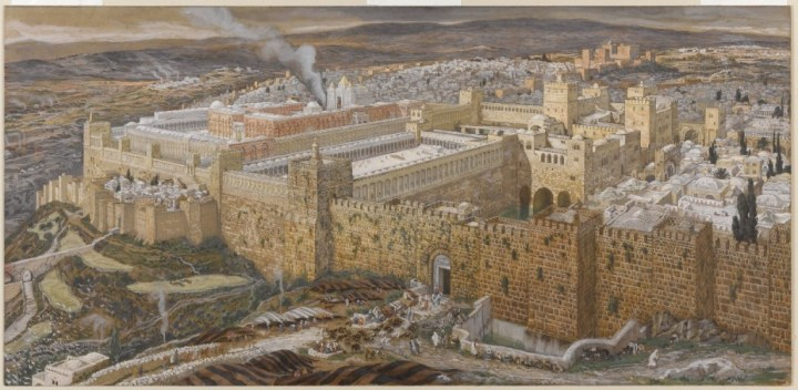 Reconstruction of Jerusalem and the Temple of Herod. James Tissot, Brooklyn Museum.