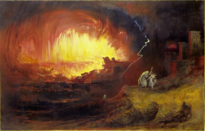 The Destruction of Sodom And Gomorrah, John Martin, 1852, Laing Art Gallery, Newcastle upon Tyne (Wikipedia).