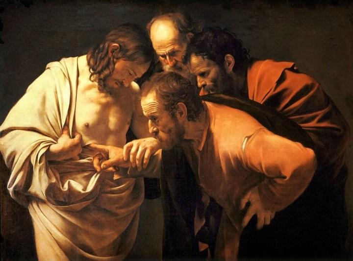 The Incredulity of Saint Thomas, Caravaggio, 1603