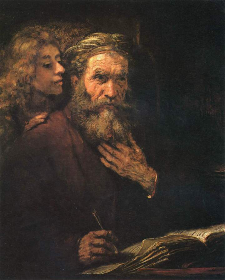 St. Matthew and the Angel, Rembrandt, c. 1661, Louvre