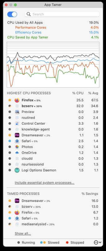 App Tamer 2.6.4 Mac 破解版 Mac上实用的延长电池使用时间的工具