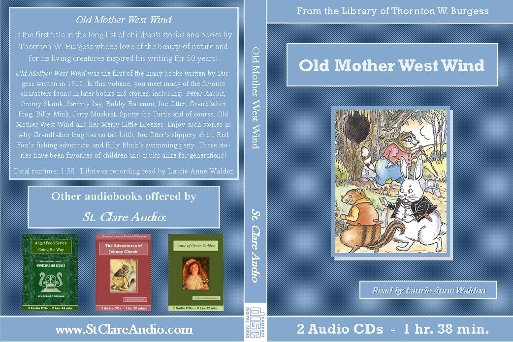 Adventures of Old Mother West Wind - St. Clare Audio