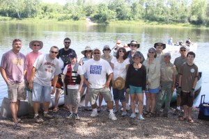 The Wild River State Park clean-up crew