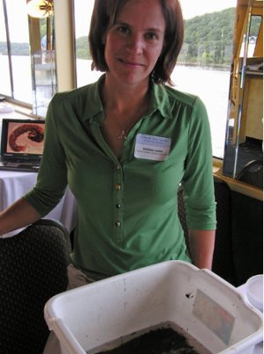 Melissa Lewis, a conservationist with the Board of Water and Soil Resources
