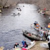 Canoe competition on St. Croix tributary