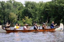 St. Croix River voyageur canoe