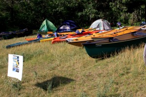 Kayaks and canoes and camping