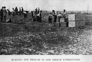 Burying the dead after the Great Hinckley Fire of 1894