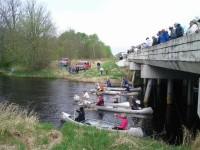 Starting line for the Snake River Canoe Race