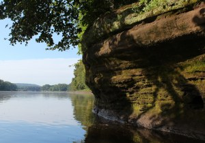 Limestone banks on the St. Croix River