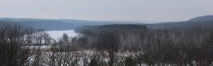 Frozen river vista
