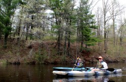 Lydia Brawner and Andre Lougee on the 2013 Namekagon paddle.