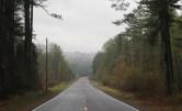 Misty morning highway.