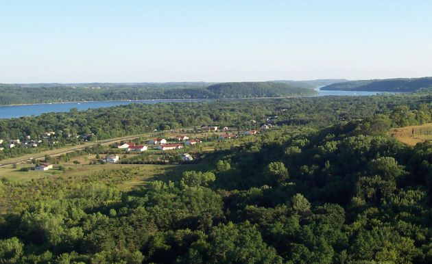 St. Croix River near Afton aerial photo