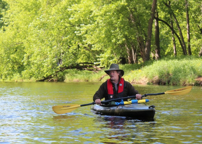 Park Ranger Dale Cox on a recent St. Croix River guided kayak trip